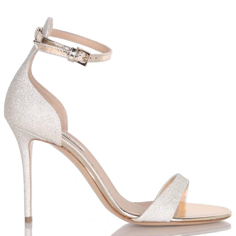 Sandalo in nappa e glitter Ninalilou