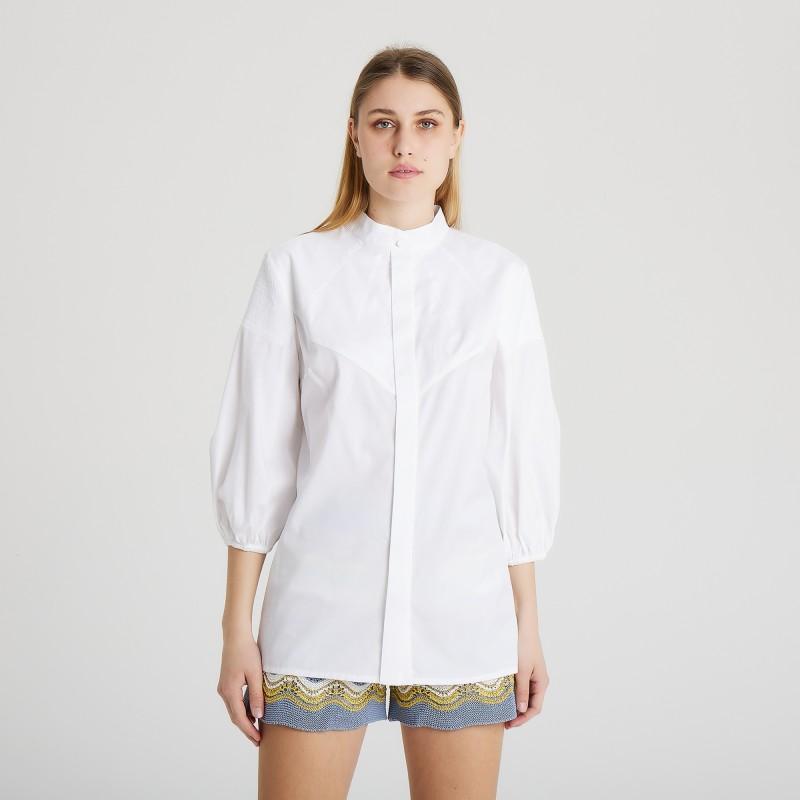 Camicia manica lunga con collo alla coreana Federica Tosi