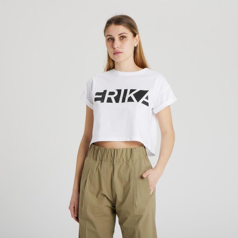 T-shirt con logo Erika Cavallini