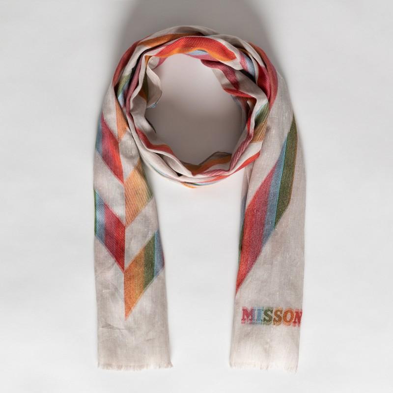 Stola in viscosa e cotone con stampa geometrica Missoni