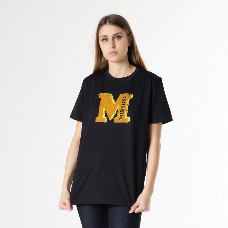 T-shirt manica corta con logo grande MMissoni
