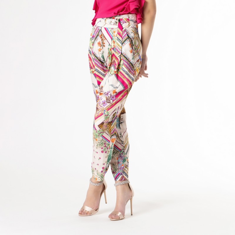 Pantalone ampio stampa flora Cavalli Class