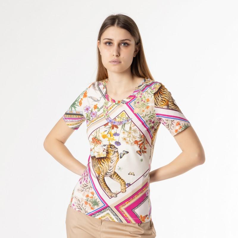 T-shirt stampa savana Cavalli Class