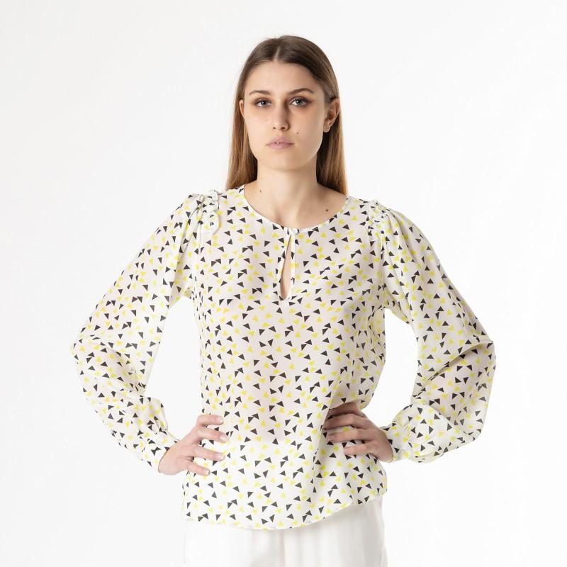 Camicia girocollo stampa coriandolo Atos Lombardini