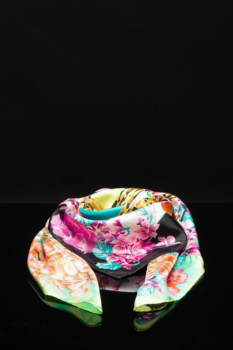 Foulard in seta stampa floreale Versace
