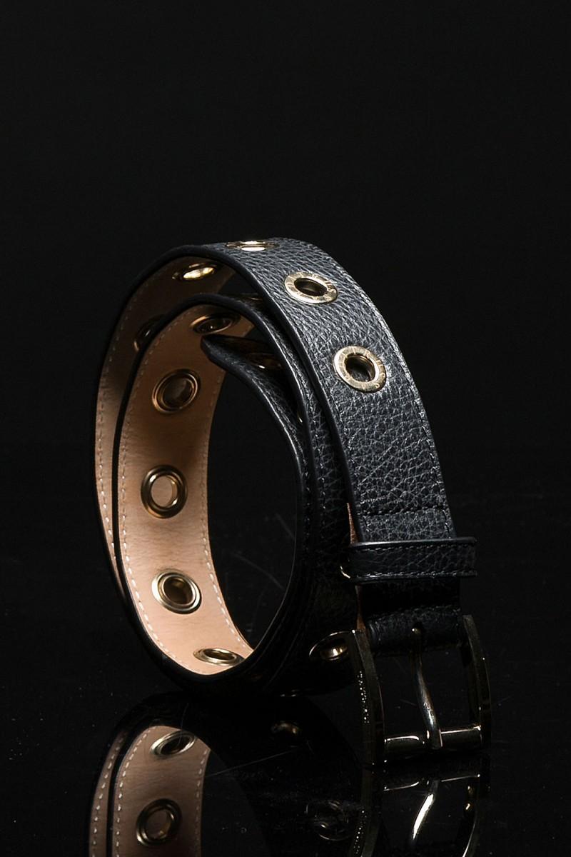 Cintura con occhielli logati in metallo Trussardi