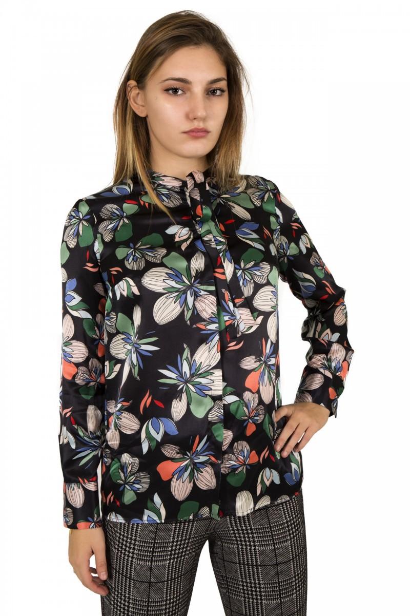 Camicia seta fantasia floreale Atos Lombardini