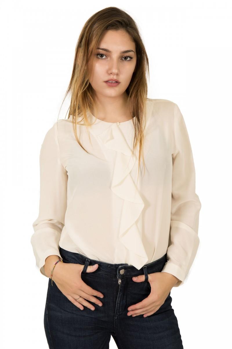 Camicia girocollo in seta Seventy
