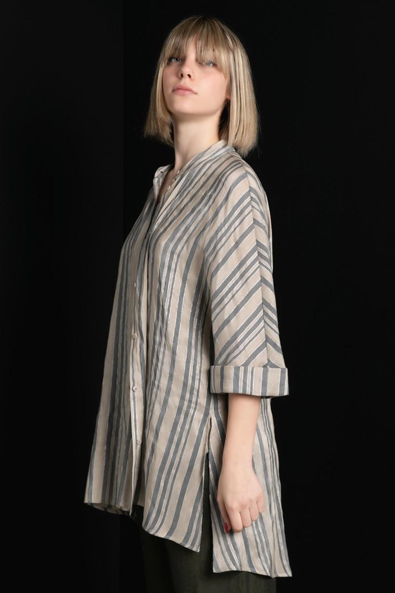 Camicia manica lunga a righe Le Tricot Perugia