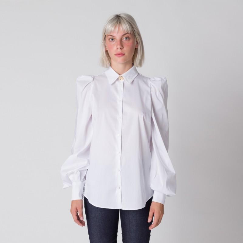 Camicia con spalla arricciata Cavalli Class
