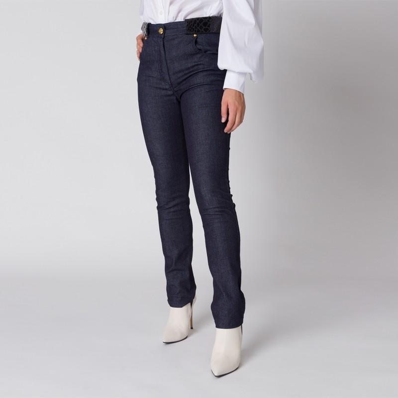 Jeans con dettagli in stampa cocco Cavalli Class