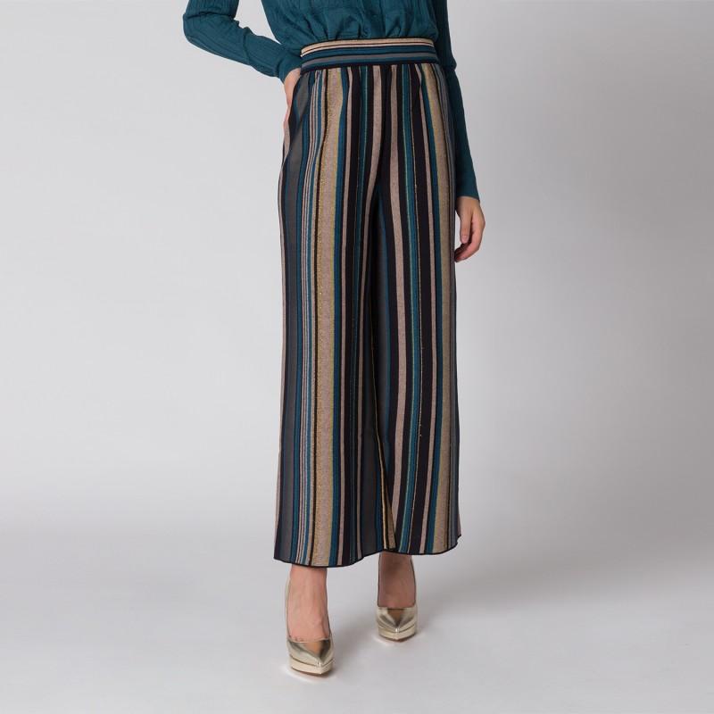 Pantalone ampio a righe MMissoni